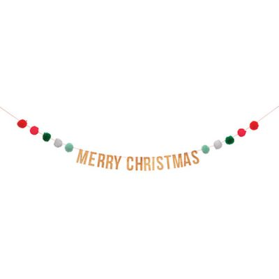 Pom Pom Christmas Garland by Meri Meri.