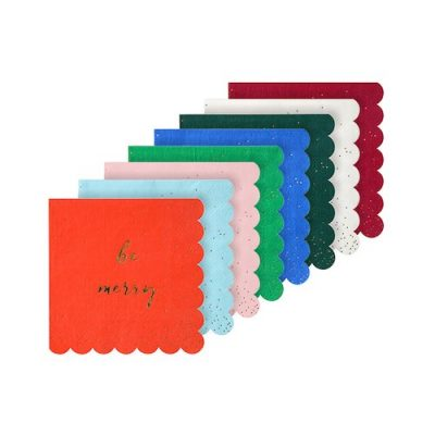 Glitter Multicolour Christmas Napkins by Meri Meri.