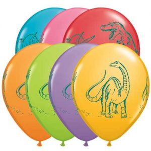 Dinosaurs in Action Balloons by Qualatex available in New Zealand.