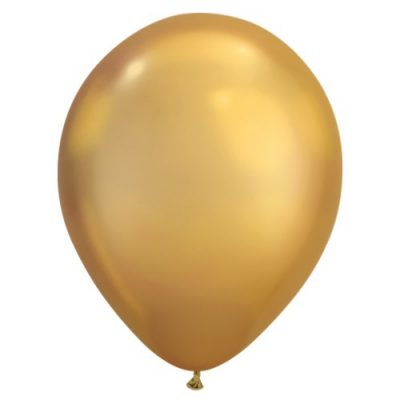 Chrome gold balloons by Qualatex available in NZ.