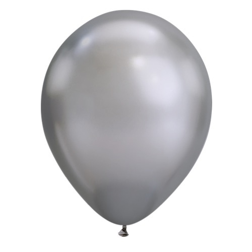 Chrome silver balloons by Qualatex available in NZ.