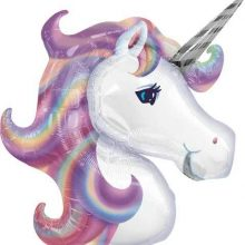 Pastel Unicorn Head Supershape Foil Balloon NZ