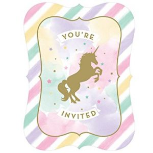 Unicorn Sparkle Party Invitations NZ