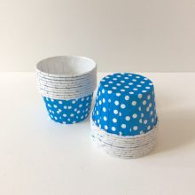 Dark blue polkadot candy cups NZ.